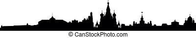 městská silueta, moskva