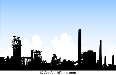 městská silueta, průmyslový
