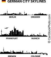 městské siluety, německo