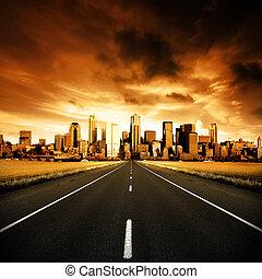 městský, silnice