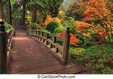 Můstek na podzim