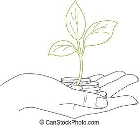 majetek, up, pojem, samičí, uzavřít, vymyslit, investice, rukopis, bylina