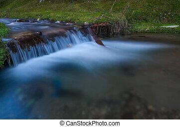 malý, vodopád, řeka, burzovní spekulant odhalení