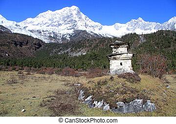 manaslu, stupa