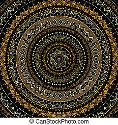 Mandalo. Indické dekorační vzor.
