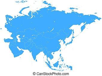 mapa, asie