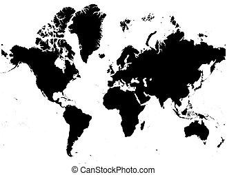 mapa, b/w či, společnost
