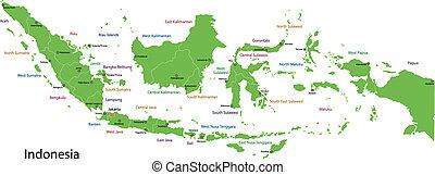 mapa, indonésie, nezkušený