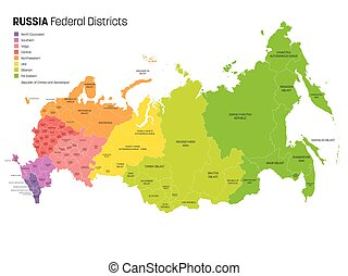 mapa, kraj, rusko, -