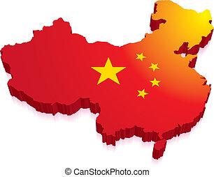 mapa, prapor, čína, 3