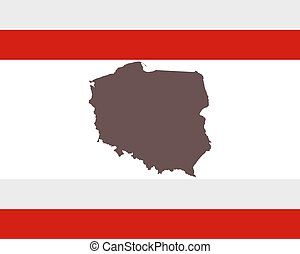 mapa, prapor, polsko, grafické pozadí