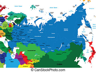 mapa, veřejný, rusko