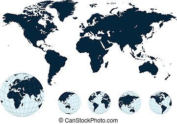 mapa, vector., společnost