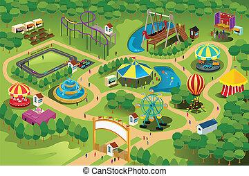 Mapa zábavního parku