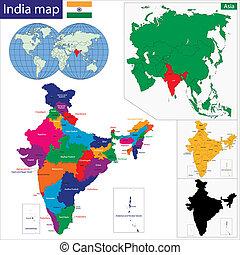 mapa, západní asia