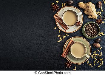 masala, chai, čaj