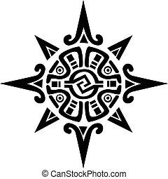 Mayan nebo symbol slunce nebo hvězdy