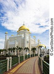 mešita, ali, saifuddien, brunei, omar, sultán