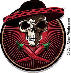Mexická lebka nebo ikon