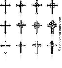 mnich, design, kříž, vybírání