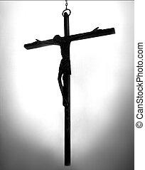 mnich, kříž