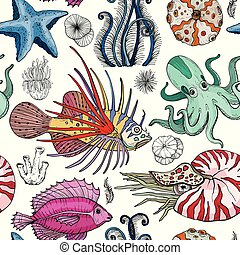 model, deepwater, seamless, organismus