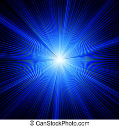 Modrá barva s výbojem. Eps 8
