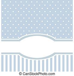 Modrá vektorová karta nebo pozvánka