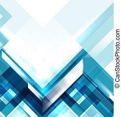 Modré geometické abstraktní pozadí