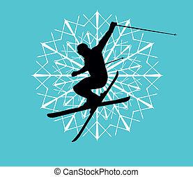 Modré lyžařské umění