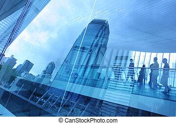 Modré městské sklo