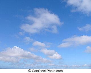 Modré nebe a mraky