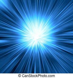 Modré světlo prasklo