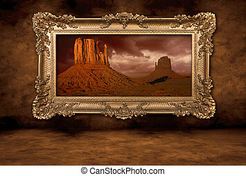 Monument Valley panorama v klasickém rámečku