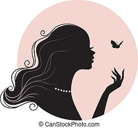 motýl, manželka, kráska