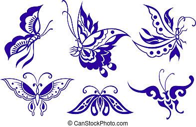 Motýlná ilustrace