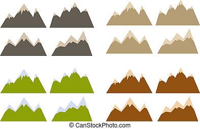 Mountain siluety