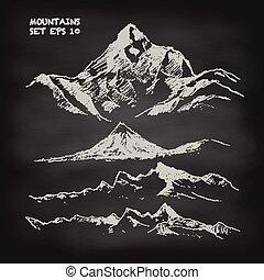 Mountain stanovil nákresový vektor