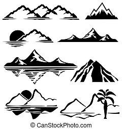 Mountains ikons