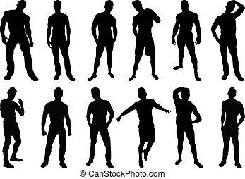 Muži siluety