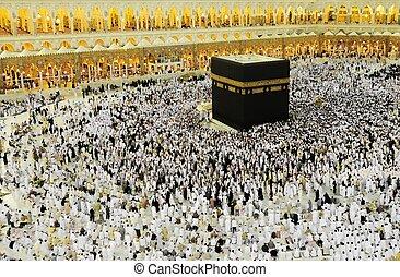 muslimský, kaaba, hajj, makkah