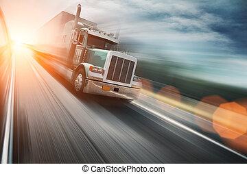 Náklaďák na dálnici