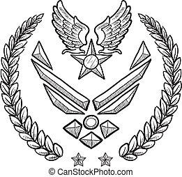 nám, insignie, válečný, moc, stavět na odiv
