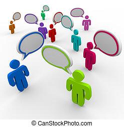 národ, komunikace, -, dezorganizovaný, mluvení, druhdy