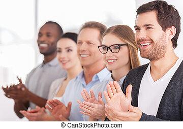 národ, srdečný, řada, čas, někdo, skupina, tleskaní, innovations., stálý, povolání, korporační