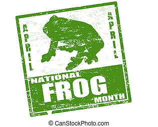 národnostní, měsíc, dupnutí, žába