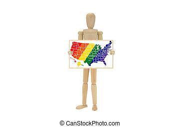 Na mapě jsou barvy gayů