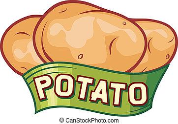 Na návrh bramborové nálepky