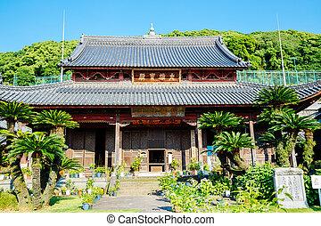 nagasaki, japonsko, kyushu, chrám, kofukuji