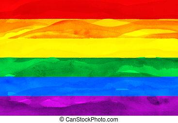 Namalovaná vlajka gayů.